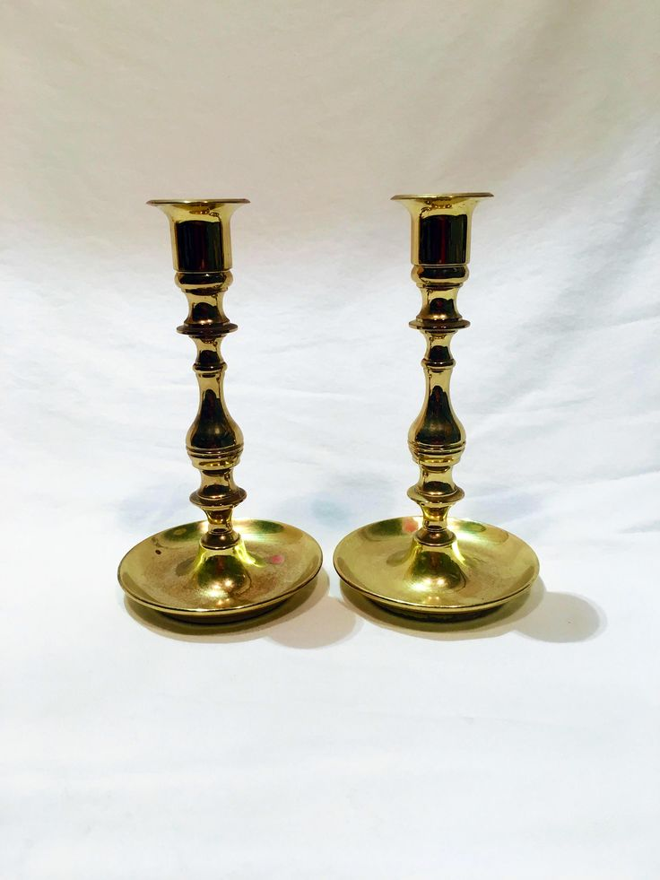 Excited to share the latest addition to my #etsy shop: Pair of Baldwin brass candlesticks, Brass candlesticks, Vintage brass, Traditional candlesticks, Classic candle holder, Brass candleholder