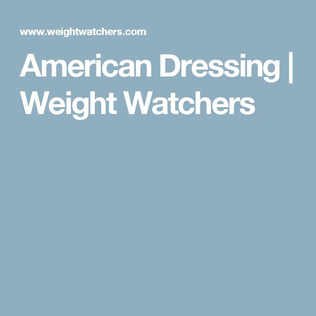 American Dressing | Weight Watchers