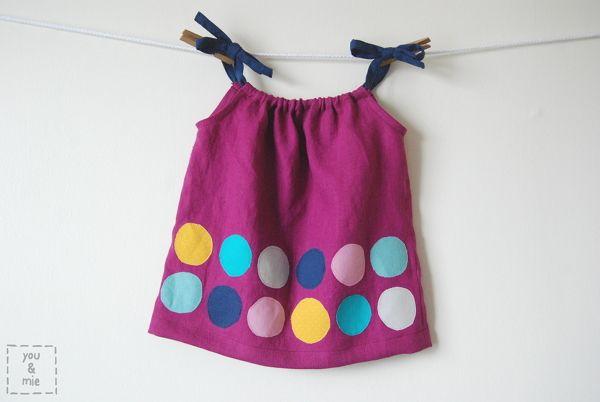 How-To: Kids Polka Dot Pillowcase Tank Top #kids #DIY #sewing #shirt