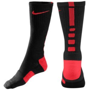 Nike Elite Basketball Crew Sock - Men's - Basketball - Accessories - Black/Varsity Red