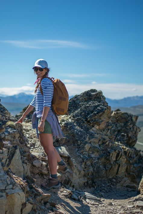 Dear Stylist , Love the fit and style of this shirt for hiking! Change the  shorts into capris (due to the temperatures we will be hiking in),