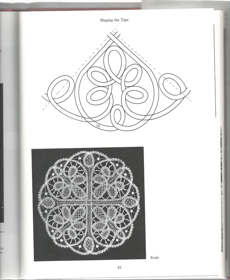 The Technique of Tape Lace sample page: Fiber Art Reflections. This could be adapted for a Romanian Point Lace crochet project
