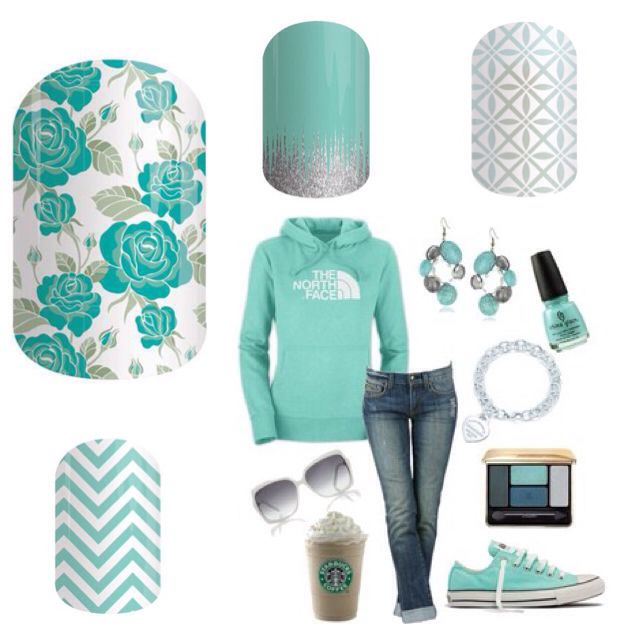 Jamberry Nail Wraps ~Mint Green Chevron~ ~Destiny~ ~Iced~ ~So Fresh~ With over 300 wraps to choose from, you're sure to find a few favorites ;) To have a peek at the Fall/Winter 2015 catalogue, visit https://kismet.jamberry.ca