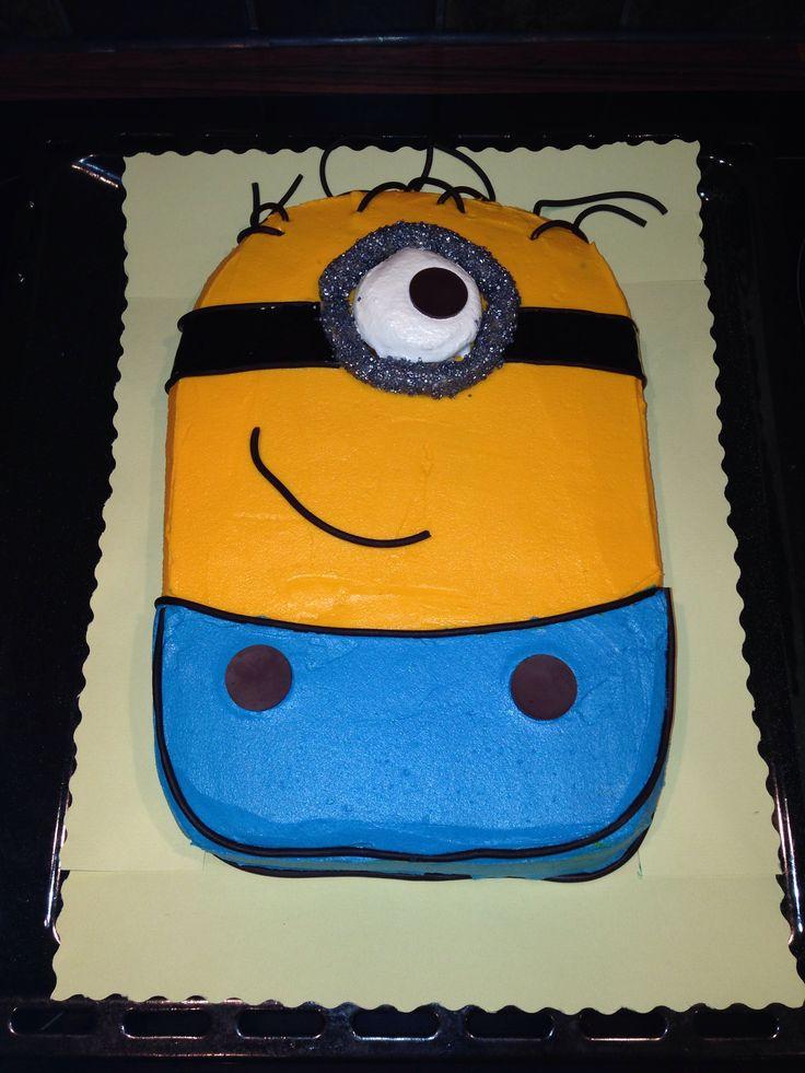 Minion cake  buttercream on top