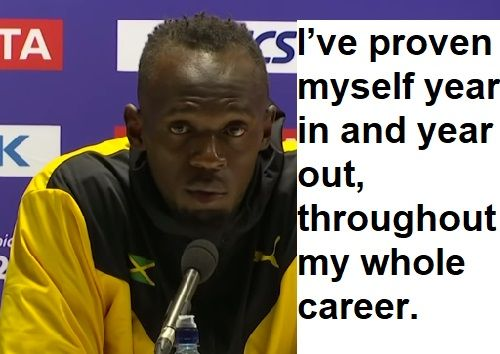 @usainbolt Bolt's Retirement Press Conference After His Final Race Highlights. You can be great without doping. http://lybio.net/usain-bolts-retirement-press-conference-after-his-final-race-highlights/sports/