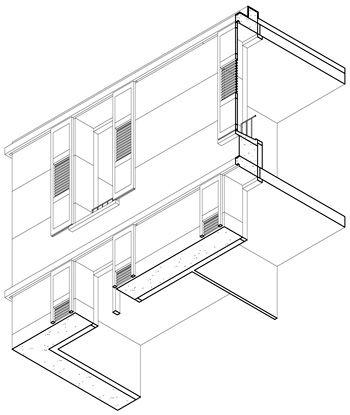 perraudinarchitectes logements en pierre massive toulouse axonométrie