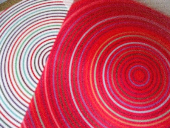 Origami Paper Circles With Origami Folding Instructions Colorful Circles Design 20 Origami sheets total - 10 of each white and red