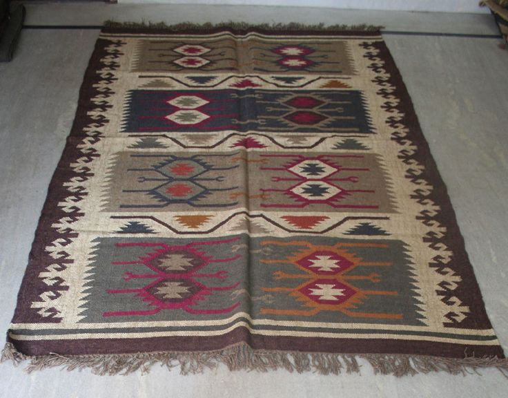 "Turkish Kilim Rug 60""x84"" Wool Jute Kilim Rug Vintage Area Rug Kilim Rug Carpet #Turkish"