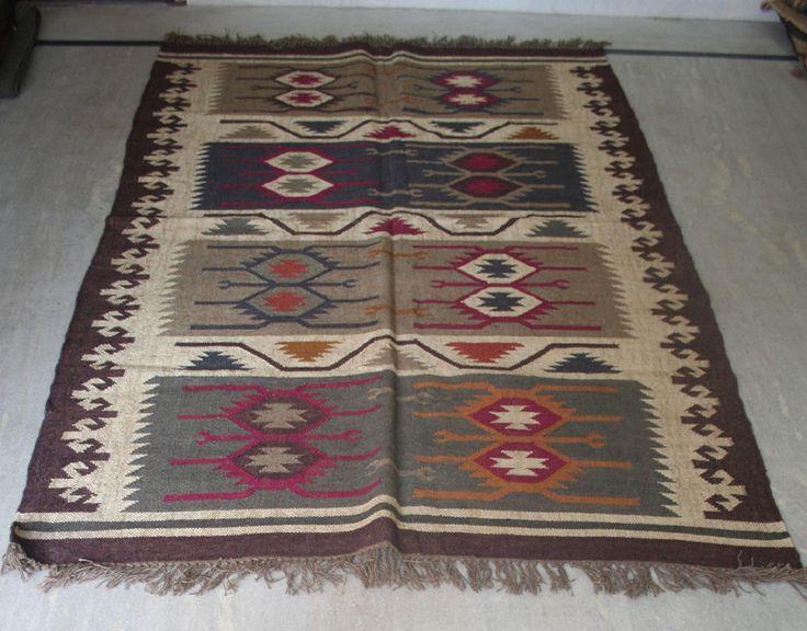 """Turkish Kilim Rug 60""""x84"""" Wool Jute Kilim Rug Vintage Area Rug Kilim Rug Carpet #Turkish"""