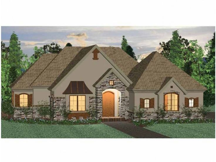 french country style 1 story 3 bedroomss house plan with 1531 total square - 1 Story French Country House Plans