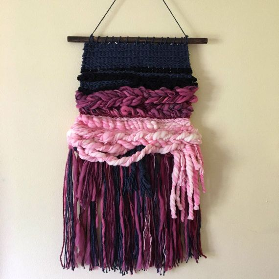 Handwoven Wall Art / Woven Wall Hanging Tapestry by amandajfrench