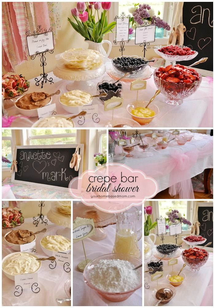 bridal shower themes for spring%0A Crepe Bar Bridal Shower