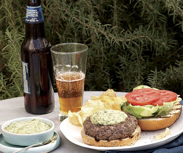 HERBED AIOLI BURGERS on Fine Cooking  -  These burgers get a double whammy of herb flavor: Finely chopped herbs are mixed into the beef, then the burgers are topped with an herbed mayonnaise that's so good it can be served on its own as a dip for french fries or chips. Click on the photo to get the recipe.  ENJOY!