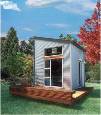 NOMAD MICRO HOME - EASILY ASSEMBLED, UNDER $30K  A groundbreaking sustainable tiny house that's affordable and easily assembled. Living/kitc...