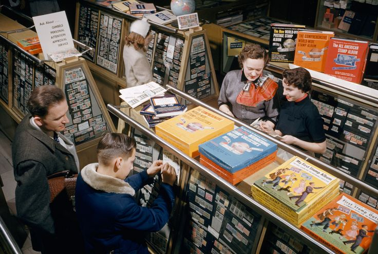 picture of stamp collectors