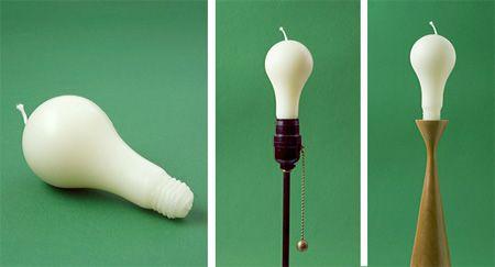 Light Bulb Candle