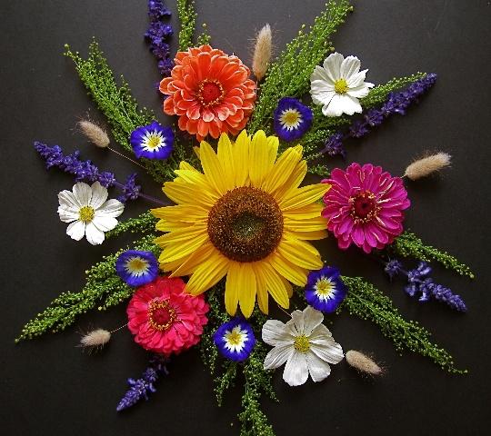 make a summer nature mandala