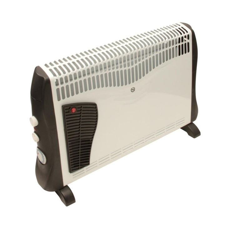 Rhino Turbo Convector Heater 240V with 24Hr Timer - Freestanding or Wall Mounted