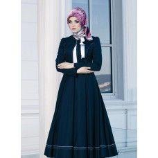 Irani Manto/Coat in Navy Blue color