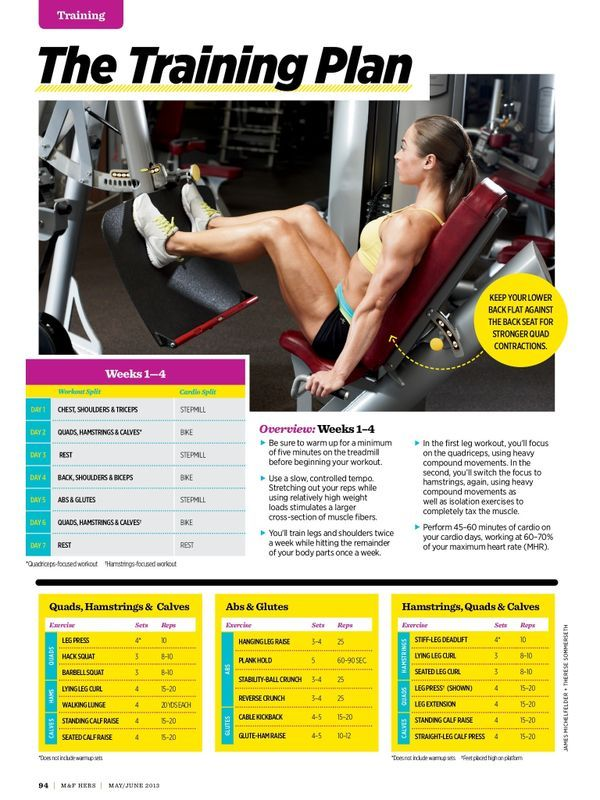 8 week weight training routine muscle and fitness hers part 1