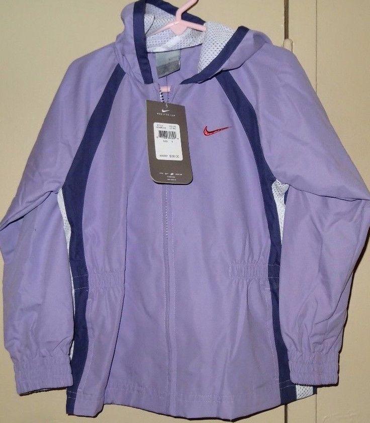 NIKE Purple Girls Light Weight Zippered Hooded Jacket Size 6 NWT Brand New  #Nike #BasicJacket #Everyday