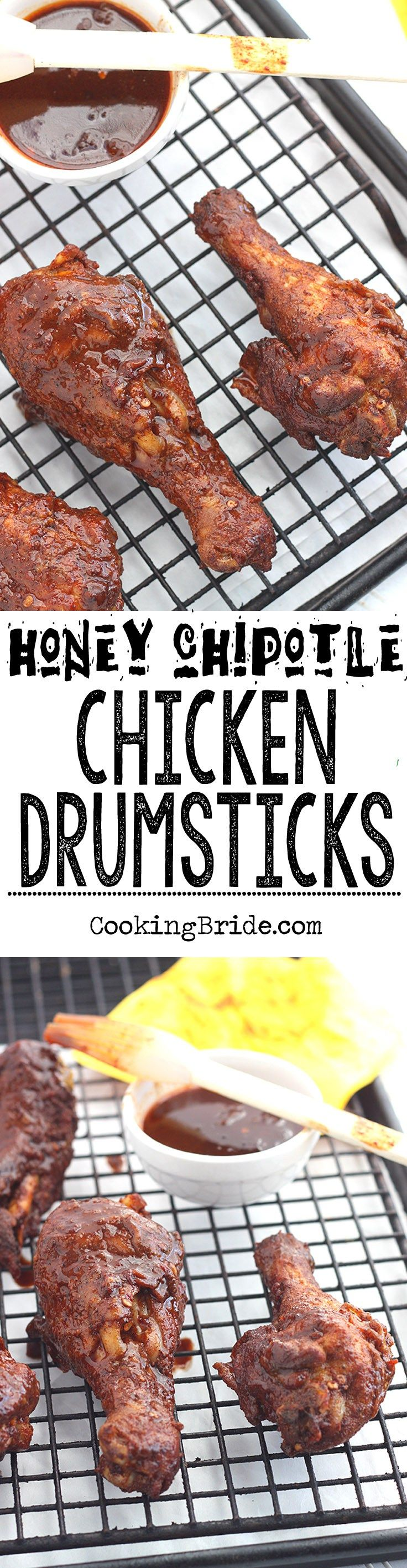 Sweet honey lends just the right amount of sweetness to smoky and spicy chipotle peppers in this recipe for honey chipotle chicken drumsticks.