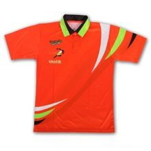 100%polyester bright color custom sublimated children track and field running polo shirts  best buy follow this link http://shopingayo.space