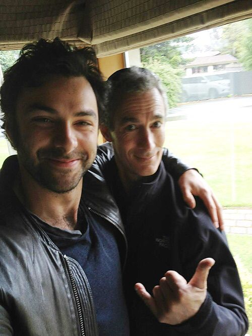 Aidan Turner and Jed Brophy :)