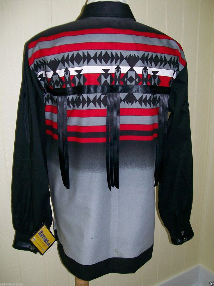 Native American Regalia Nakoda Made Fancy Black Ribbon Shirt Size XL | eBay