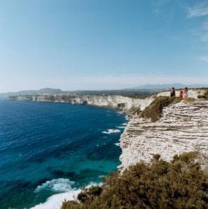 Cliffs overlooking the Mediterranean Sea in Bonifacio, on the southern tip of Corsica. #France