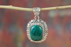 AWESOME HANDMADE AMAZONITE GEMSTONE 925 SILVER PENDANT $24.99 https://www.brillantejewelry.com/collections/pendants/products/awesome-handmade-amazonite-gemstone-925-silver-pendant