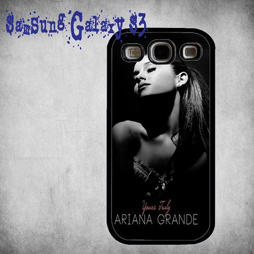 Ariana Grande Print On Hard Plastic Samsung Galaxy S3, Black Case