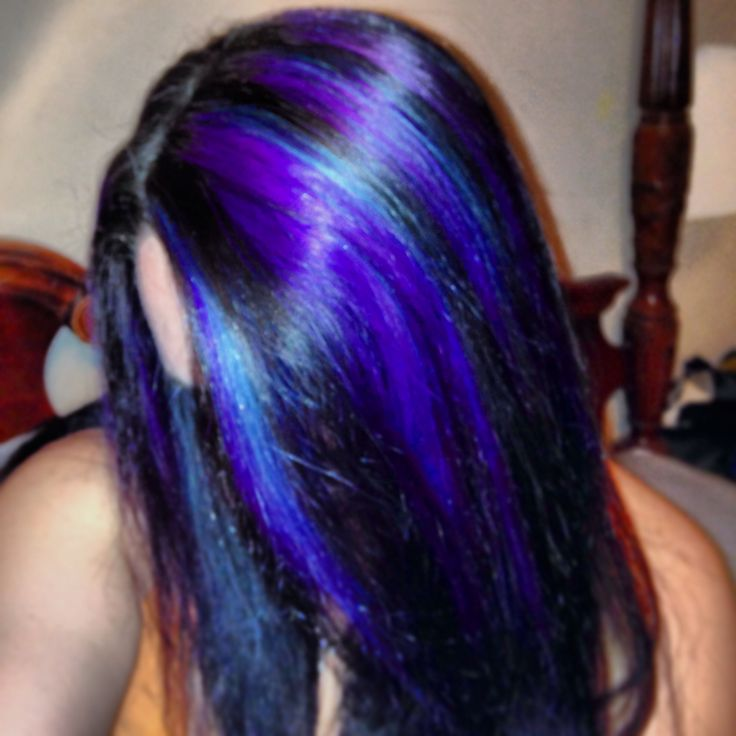 Pictures Of Black Hair With Blue And Purple Streaks Kidskunstfo