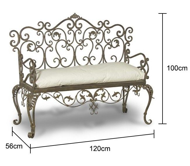 wrought iron wrap around tree bench furniture cushions garden outdoor seat