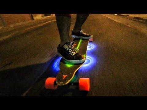 Custom LightUp Motorized SkateBoard - YouTube