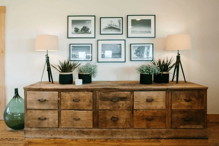 A statement piece of furniture like this large chest gives the Fixer Upper style you covet