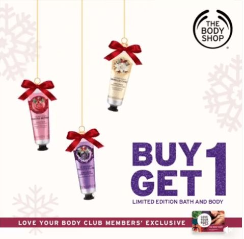 Buy 1, Take 1 Limited Edition Bath and Body Products @ The BodyShop. CLICK HERE for more details: https://dealspinoy.com/buy-1-take-1-limited-edition-bath-and-body-products-the-bodyshop/ #DealsPinoy #LoveYourBodyClub