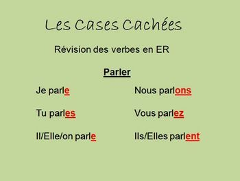 Interactive French Regular (er, ir, re) Verb Activity - Powerpoint