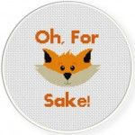Funny Fox Cross Stitch Illustration