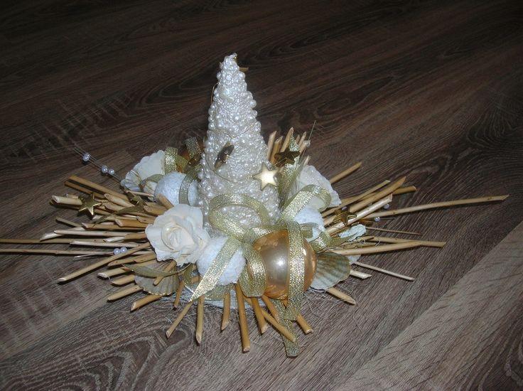 Christmas decoration to table http://handmadeowo.blogspot.com/2013/11/bozonarodzeniowy-stroik-na-sto.html