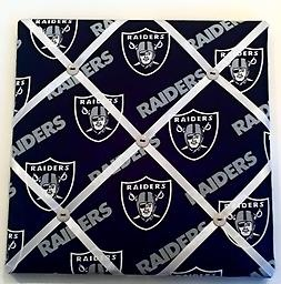 NFL Raiders memory board