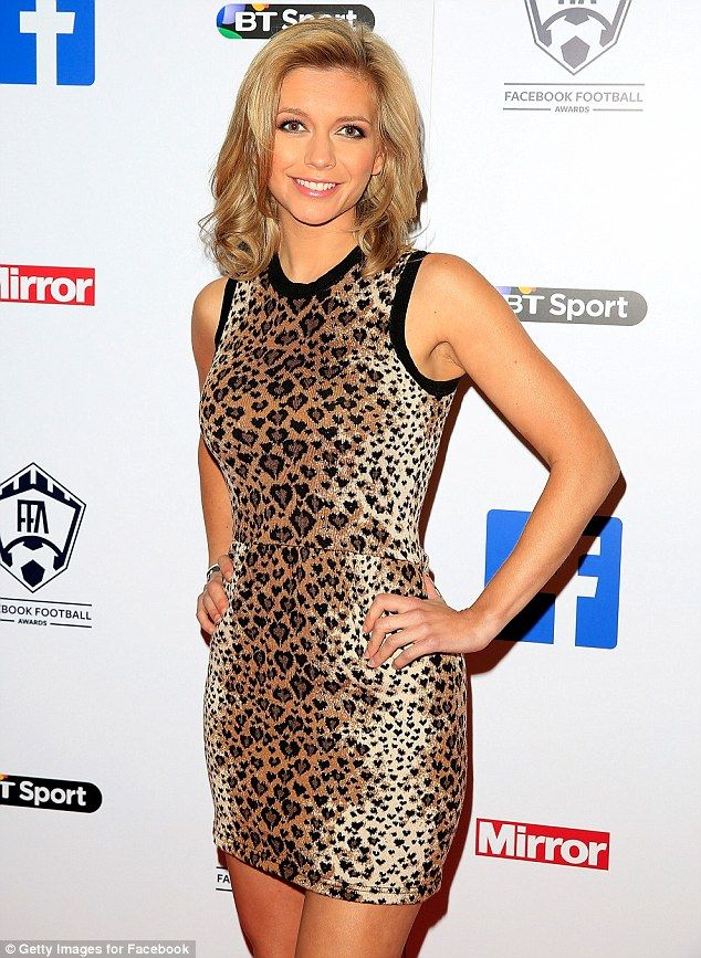 No own goal here: The Manchester United fan's slender physique was on display as she posed...