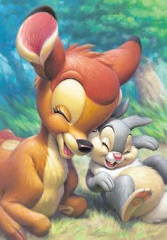 Bambi en Thumper so cute!!!!!