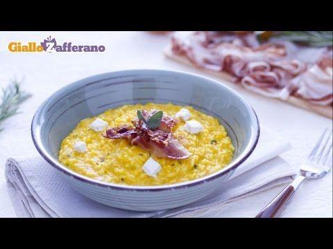 Ricetta Risotto alla zucca con robiola e pancetta croccante - Le Ricette di GialloZafferano.it