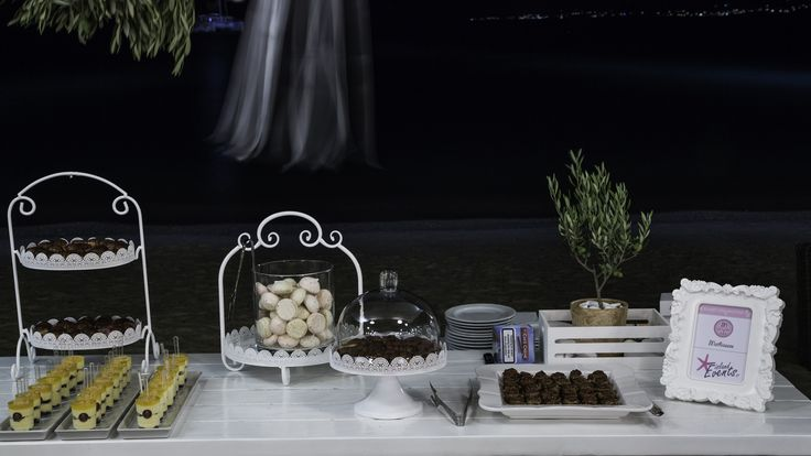 Sweets table by the sea styled by islandevents.gr. Photo Graham Fox