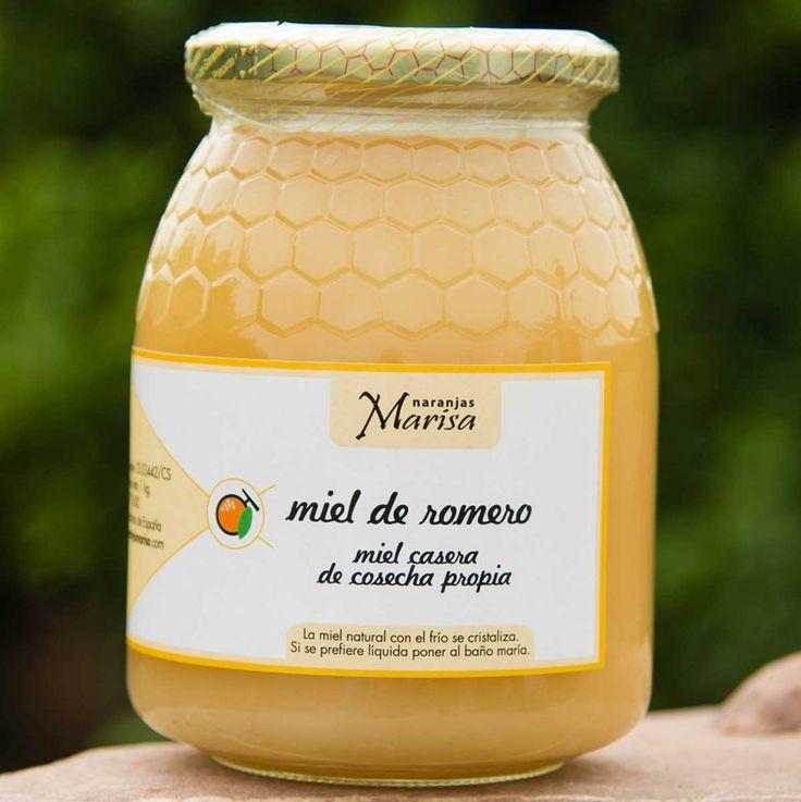 Productos elaborados – Naranjas Marisa. Miel de romero. Miel de cosecha propia. Tarro de 1kg.