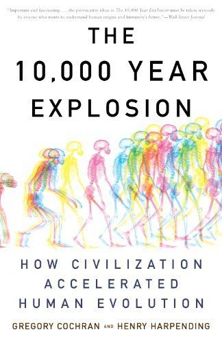 The 10,000 Year Explosion: How Civilization Accelerated Human Evolution by Gregory Cochran, http://www.amazon.com/dp/B0042FZRPC/ref=cm_sw_r_pi_dp_deXzsb14QY311