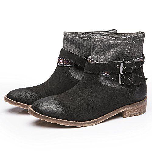 LiKing 01-001 Damen Cowboy Biker Boots Echtleder - http://on-line-kaufen.de/liking-stiefeletten/liking-01-001-damen-cowboy-biker-boots-echtleder-2
