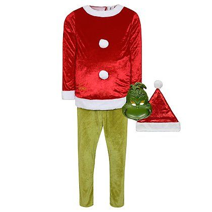 Dr Seuss The Grinch Christmas Fancy Dress Costume | Men | George at ASDA