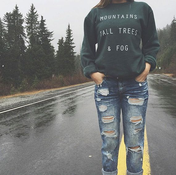 Our Mountains, Tall Trees & Fog crewneck is so perfect for Pacific Northwest adventures. This super comfy pullover will keep you warm and stylin